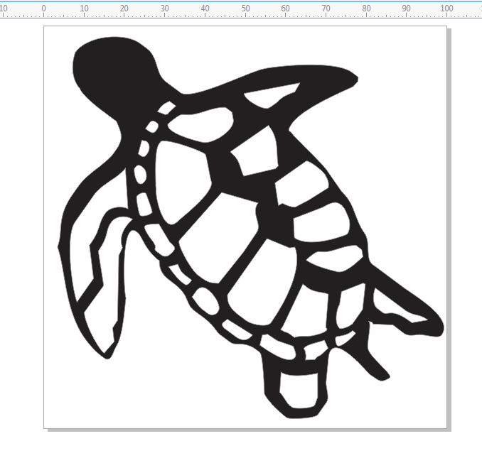 Turtles, Individual pack of 10 -  100x100mm