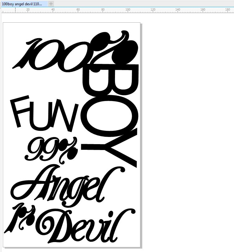 100%boy angel devil 110 X 180 MM MIN BUY 3