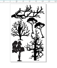 Trees  multisized  110 x 180mm  min buy 3