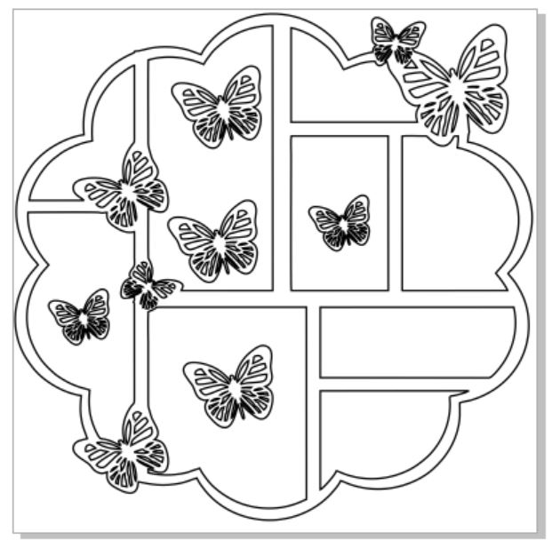 12 x 12   butterflies sold 1\'s