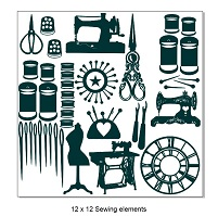 Sewing-Needlework elements.12 x 12. Min buy 2