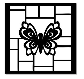 Mini stencil 100x100Butterfly Min buy 5