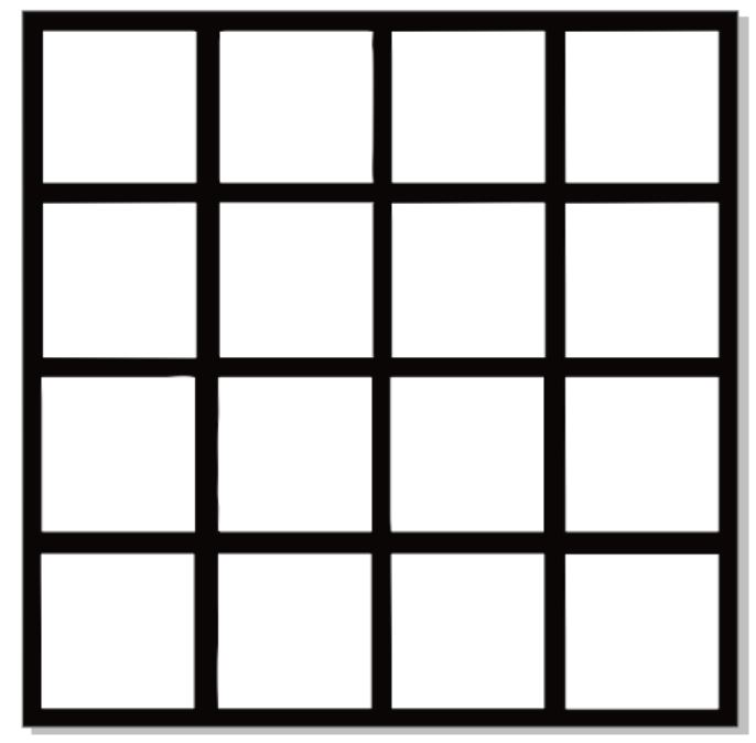 16 hole frame approx 10 x 10  or 220 x 220  sold in 3\'s