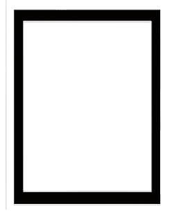 Black frame 18 x 24  inch  to suit heart frame cut out  90's , w
