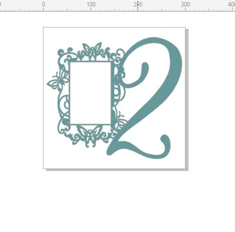 Birthday number with fancy frame , 2, can be any number