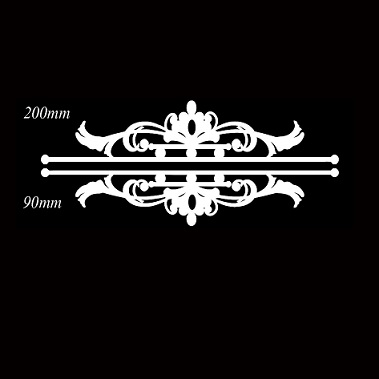 Page dividers ornate baroque  embellish frame 200 x 90mm  buy 3