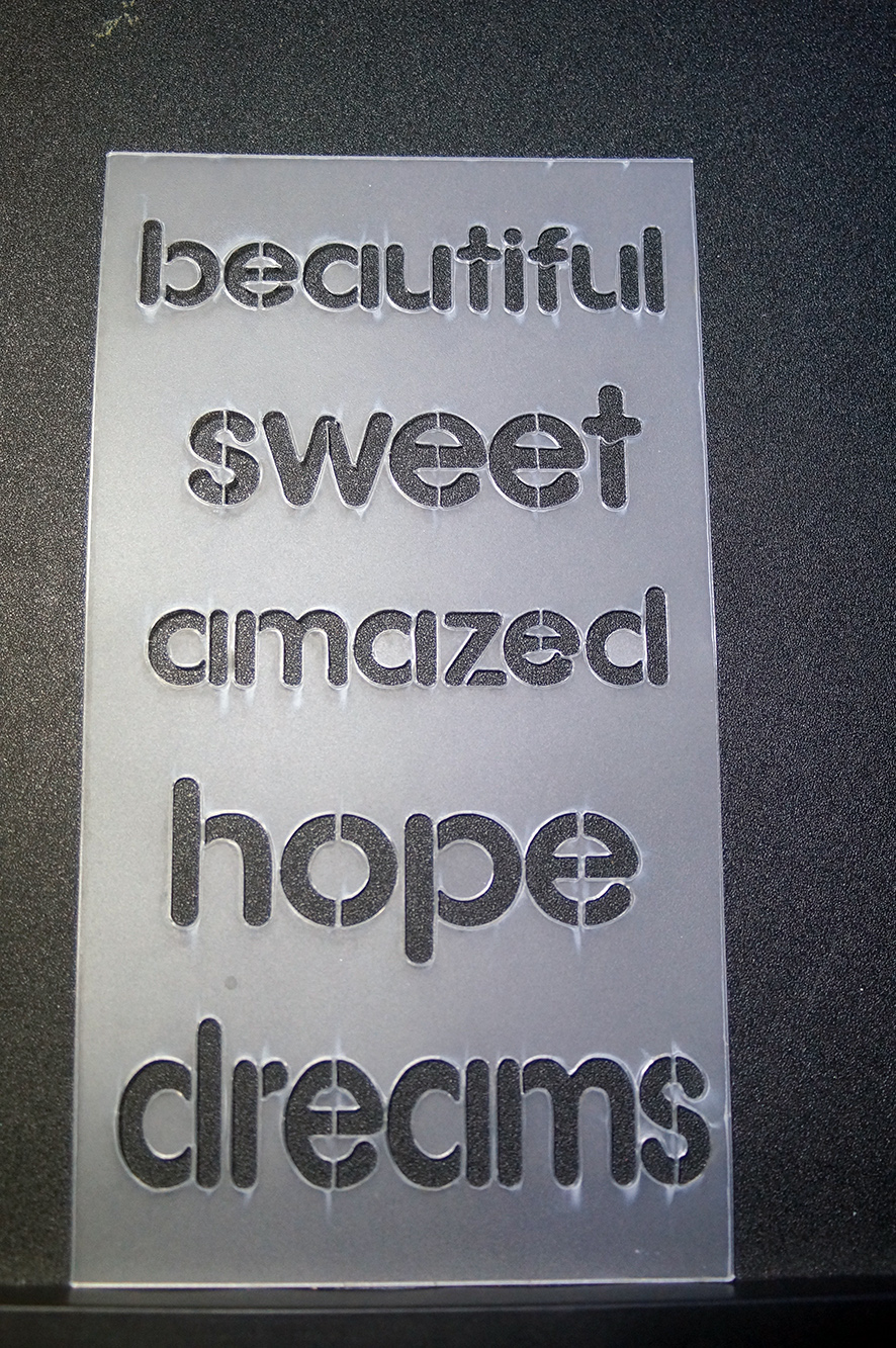 Stencils,Masks,Templates, 110 x 180  Beautiful,sweet,amazed,hope