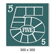 Number 5 multi photo frame ,300 x 300 mm sold individually