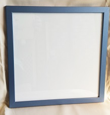 "Blue Metallic look  12 x 12 "" or 300 x 300 mm  hanger on back wi"