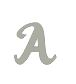 Script 20mm Uppercase Letter - A