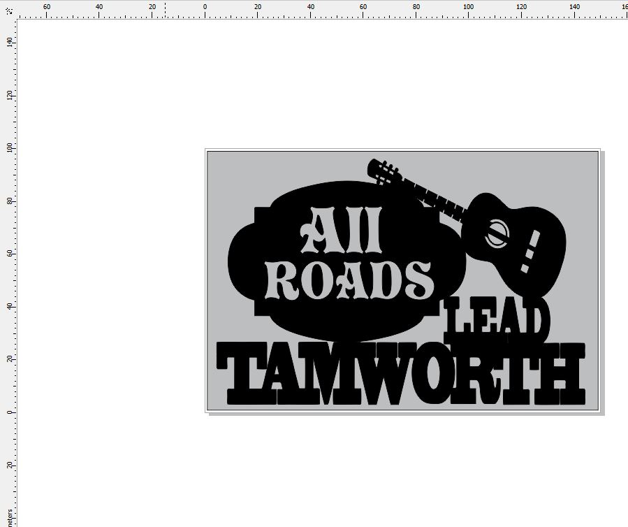 All roads lead Tamworth  150 x 100 min buy 3