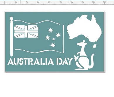 Australia day map 110 x 180mm   min buy 3