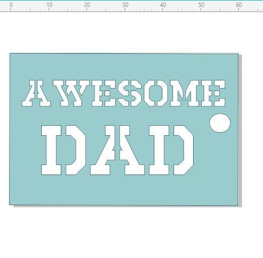 AWESOME DAD  tag 50 x 40.mm pack of 10