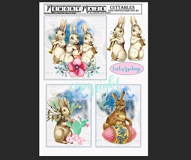 Easter  Cuttable sheet  Bunnies  Min buy 5
