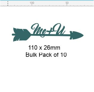 Arrow me and you  110 x 26  pack of 10