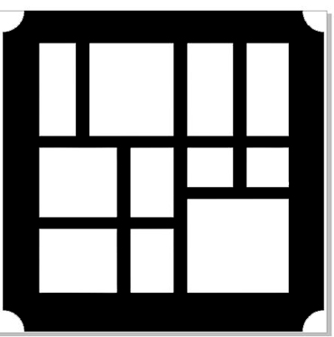 Printers tray square cut corners comes with 2 spacers and tray b