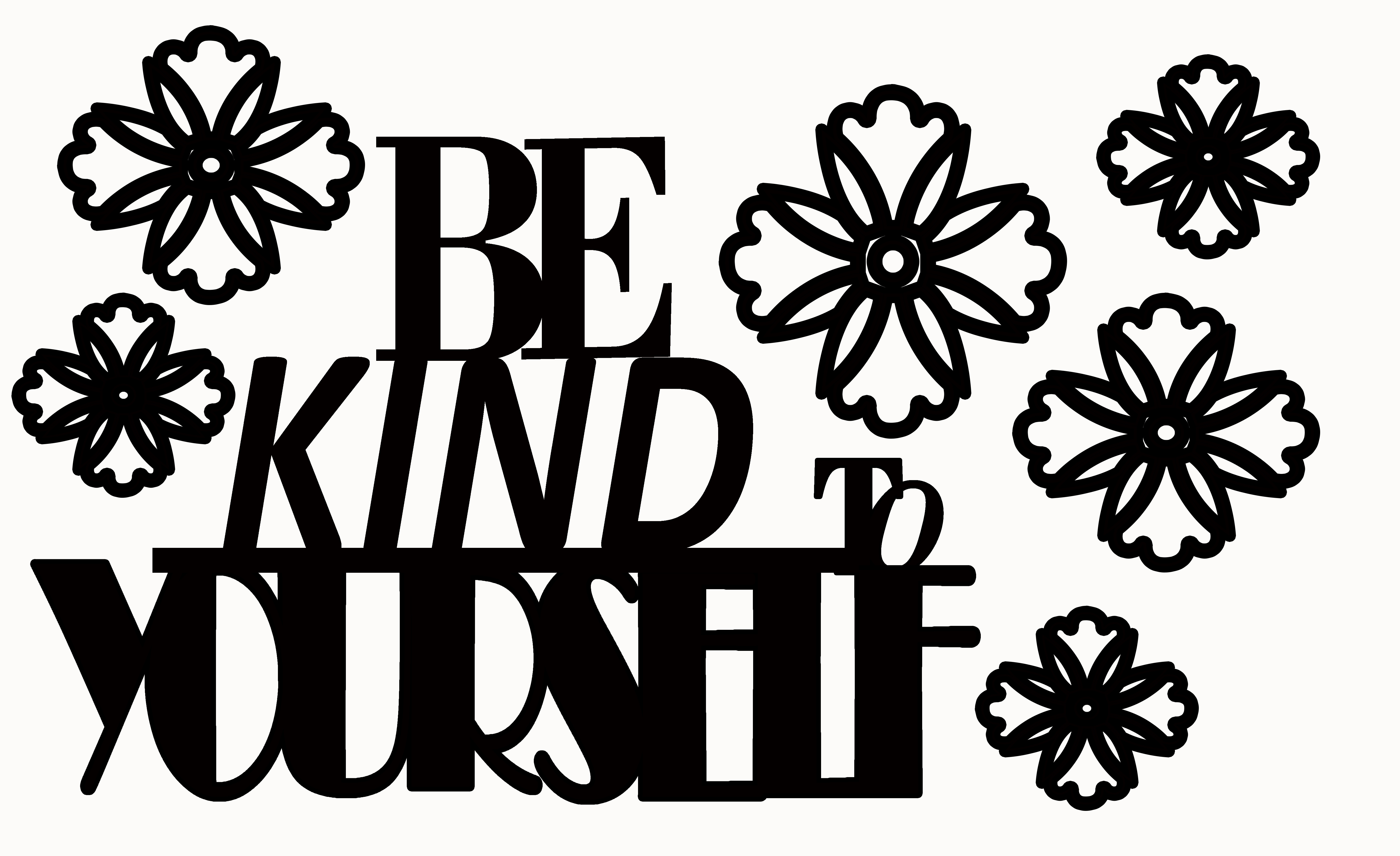 BE KIND TO YOURSELF 110 x 180 mm min buy 3
