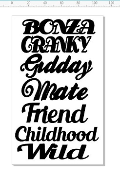 BONZA CRANKY GIDDAY MIN BUY 3 110 X 180MM