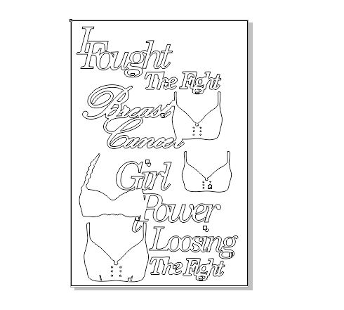 Breast Cancer sentiments sold in 3's