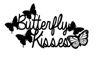 Butterfly Kisses 167 x 102 mm girls love butterflies