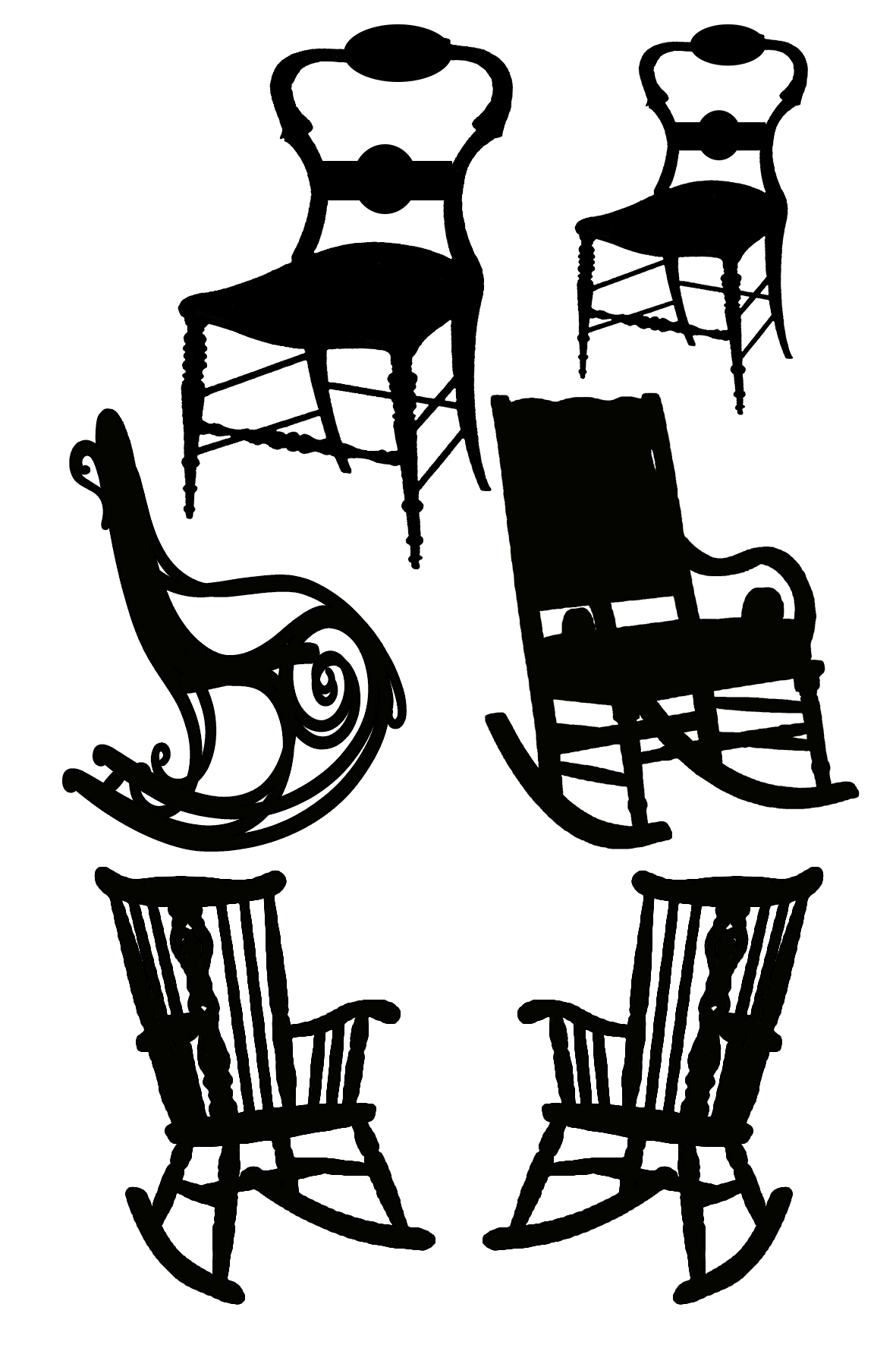 Rocking chairs 100 x 120