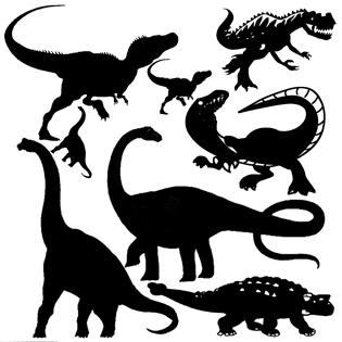 Dinosaur 12 x 12  lots of dino's