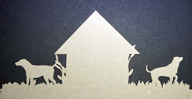 DOGS CUT IN CARDSTOCK Kraft YOU ARE BUYING A PACK OF 5 PREPACKED