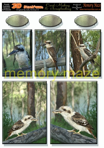 DS0711 kookaburra multi sized toppers min buy 5 cut out with you