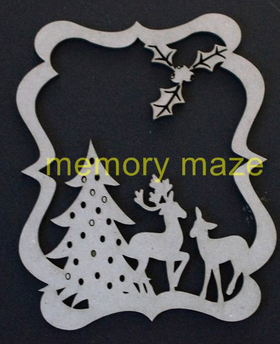 Christmas tree and reindeer decoration, Customise your own , app