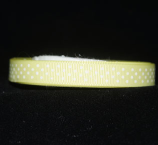Gross grain ribbon yellow 10 mm