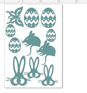 Easter Bilbys, bunnys and eggs, 110 x 180mm min buy 3