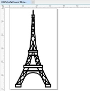 Mini eiffel tower pack of 10