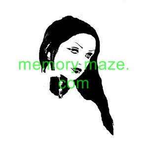 Ladies face Stencil,mask or template F001  200X200 Min buy 3