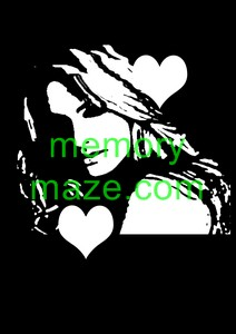 Lady,Ladies face Stencil,mask or template F007 200X200 Min buy 3