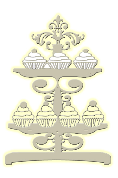 Fancy cupcakes  80 x 117 mm  pack 10