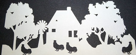 FARMHOUSE CUT IN CARDSTOCK Kraft YOU ARE BUYING A PACK OF 5 PREP