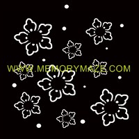 FLOWER SPOT poly template 8x8 sold in 3's