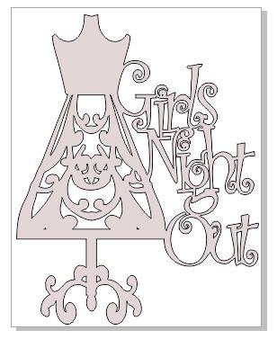 GIRLS NIGHT OUT Mannequin 98 x 125 mm sold in 3