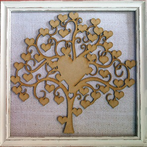 Heart signature tree MDF frame not included
