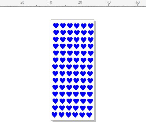 Hearts mini  stamp 30 x 70.rubber only for use with stamping pla