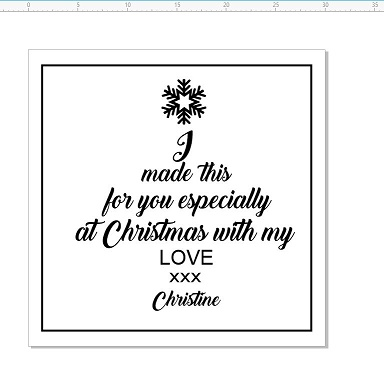 I made this especially for you at Christmas with love 30 x 30mm