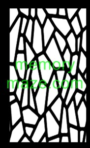 Stencil,mask or template J03 PEBBLES  110X180   Min buy 3