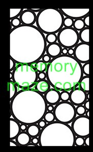 Stencil,mask or template J001 ALL CIRCLES  110X180   Min buy 3