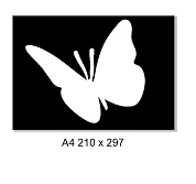Butterfly ,2 Piece stencil & mask. A4 sold individually