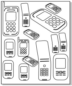 Mini Mobile phones 100 x 120