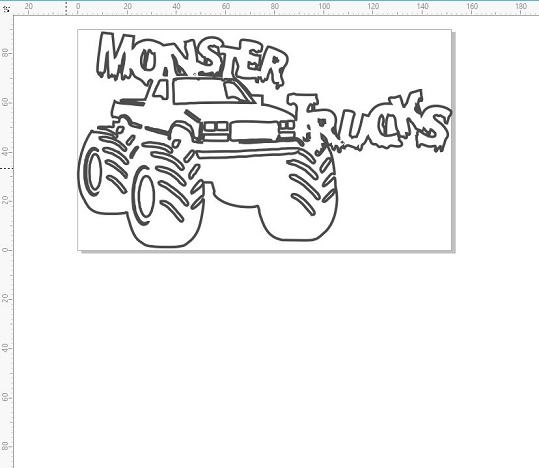 Monster trucks 145 x 100mm  min buy 3