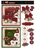 OCT 016 Merry Christmas Traditional cards -2 card sheet