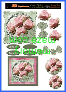 OCT 04  step by step pink roses