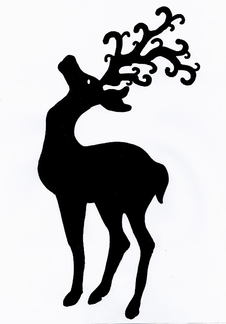Reindeer 40 x 87 mm  pack of 10