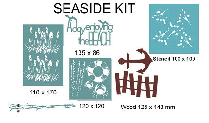 Seaside Kit pack, Min buy 3 .RETREAT OR WORKSHOP PACK min buy 3